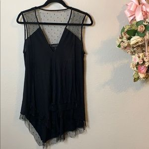 BCBG MaxAzria Layered Lace Tank Top